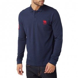 Polo Manches longues Homme Marine Franck Ferry