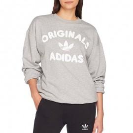 Sweat Crew Gris Femme Adidas