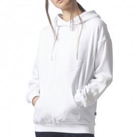Sweat Flock Blanc Femme Adidas