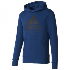 Sweat à Capuche Bleu Homme Adidas