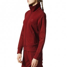 Veste Firebird Effet usé Bordeaux Femme Adidas