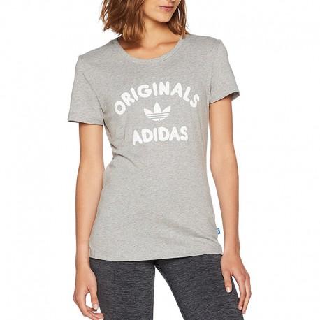 t-shirt adidas gris femme