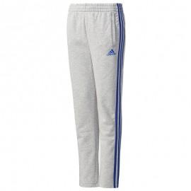 Pantalon en Coton mélangé Gris Garçon Adidas