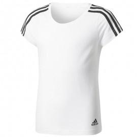 Tee Shirt Blanc Fille Adidas