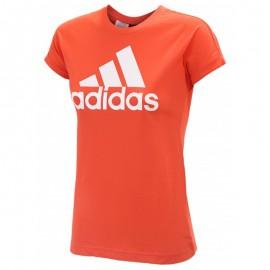 Tee Shirt Orange Fille Adidas