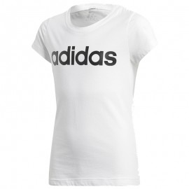 Tee Shirt Blanc Linear Fille Adidas