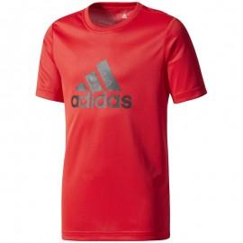 Tee shirt Sport Garçon Rouge Adidas