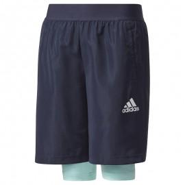 Short 2 en 1 Football Marine Garçon Adidas