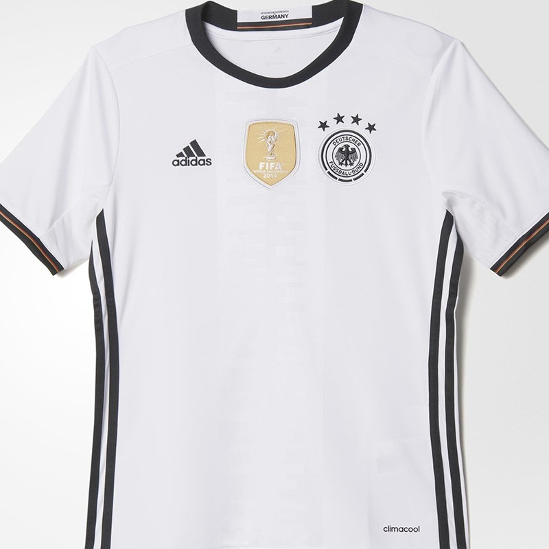 Maillot Allemagne UEFA Football Blanc Garçon Adidas
