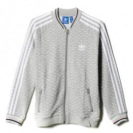 Sweat zippé Gris Fille Adidas