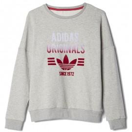 Sweat Crew Gris Fille Adidas