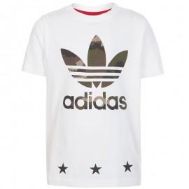 Tee Shirt Blanc Garçon/Fille Adidas