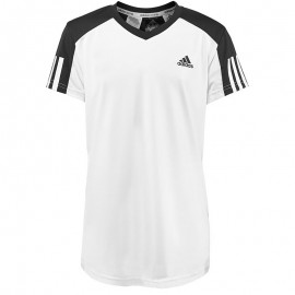 Tee shirt Tennis Blanc Garçon Adidas