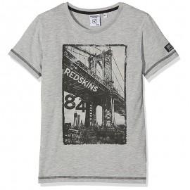 Tee-shirt Bridge Gris Garçon Redskins