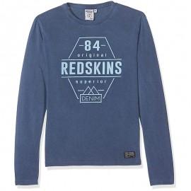 Tee-Shirt Folk Bleu Garçon Redskins