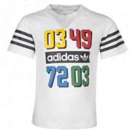 Tee Shirt Blanc Garçon Adidas