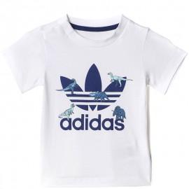 Tee-shirt Dinosaure Blanc Garçon Adidas