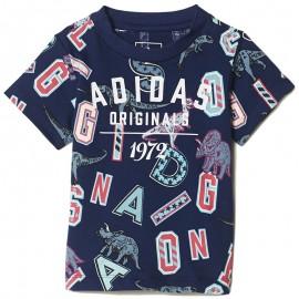 Tee-shirt Dinosaure Marine Garçon Adidas