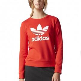 Sweat Crew Rouge Femme Adidas