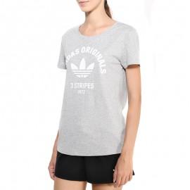 Tee-shirt Gris Femme Adidas