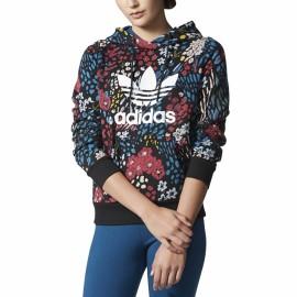 Sweat Hoodie Multicolore Femme Adidas