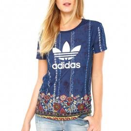 Tee-shirt Cirandeira Bleu Femme Adidas