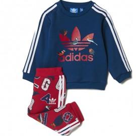 Survêtement Rose Bébé Fille Adidas