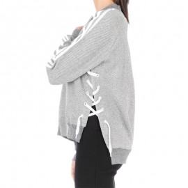 Sweat Drawcord Gris Femme Adidas