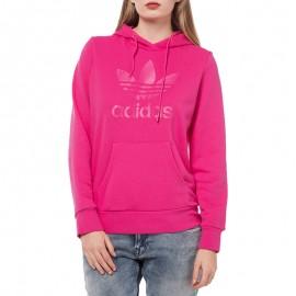 Sweat Bi-matière Rose Femme Adidas