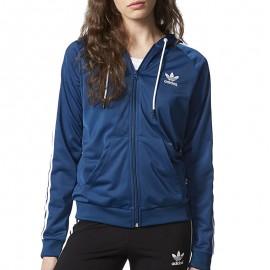Sweat à capuche Slim Hoodie Bleu Femme Adidas