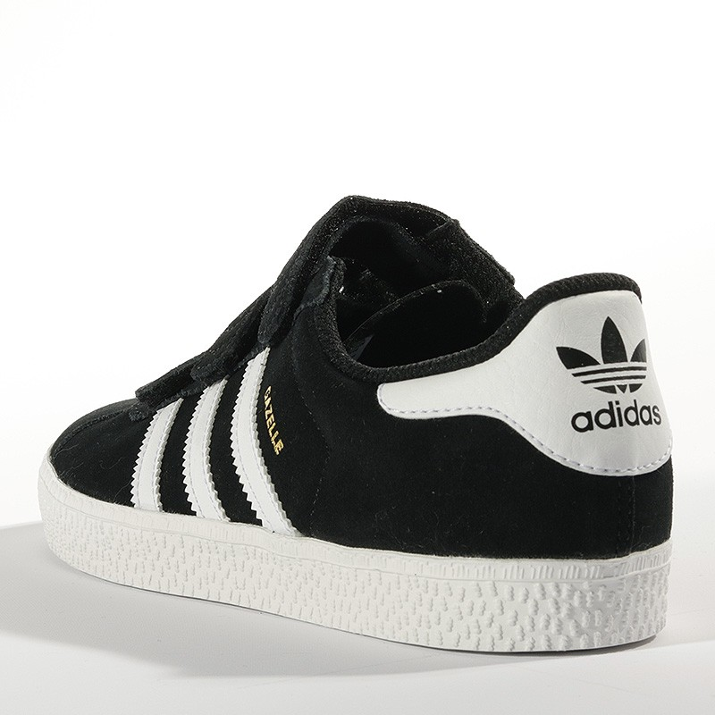 chaussures gazelle 2 noir gar on fille adidas. Black Bedroom Furniture Sets. Home Design Ideas