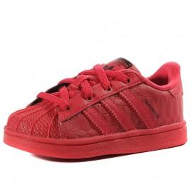 Chaussures Superstar Triple Rouge Bébé Garçon Adidas