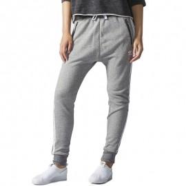 Pantalon Décontracté Lowcrotch Gris Femme Adidas