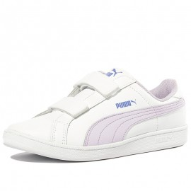 Chaussures Smash Fun L V Blanc Fille Puma