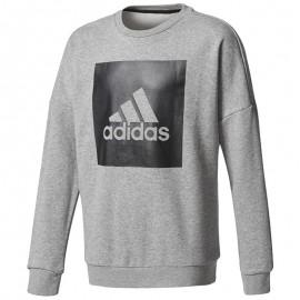 Pull Logo Gris Garçon Adidas