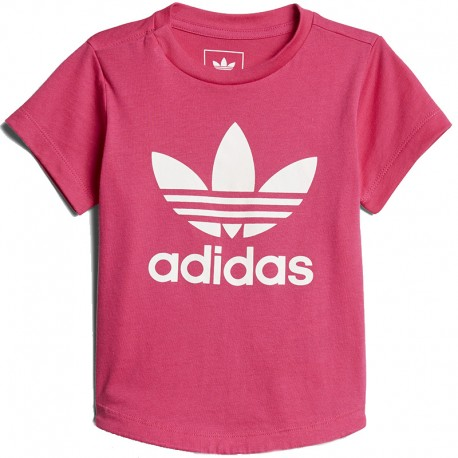 t shirt adidas rose fille