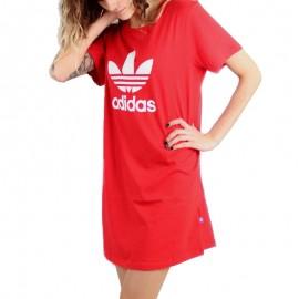 Robe Trefoil Rouge Femme Adidas