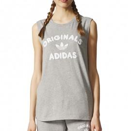 Débardeur Gris Femme Adidas