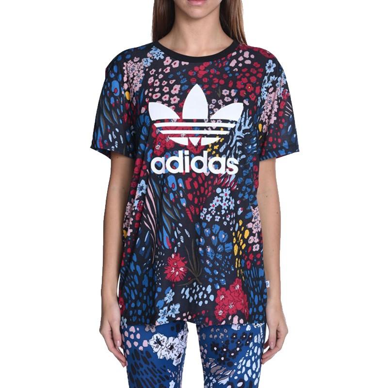 Tee shirt Noir Femme Adidas