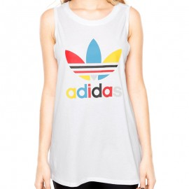 Débardeur Loose Blanc Femme Adidas