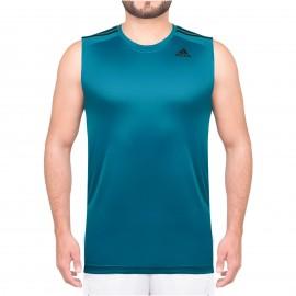 Débardeur Micro-perforé Entrainement Bleu Homme Adidas