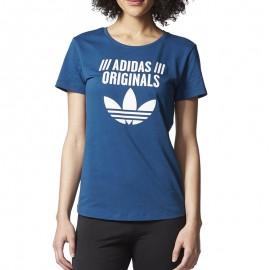 Tee-shirt Bleu Femme Adidas
