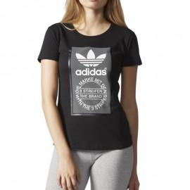 Tee-shirt Slim Noir Femme Adidas