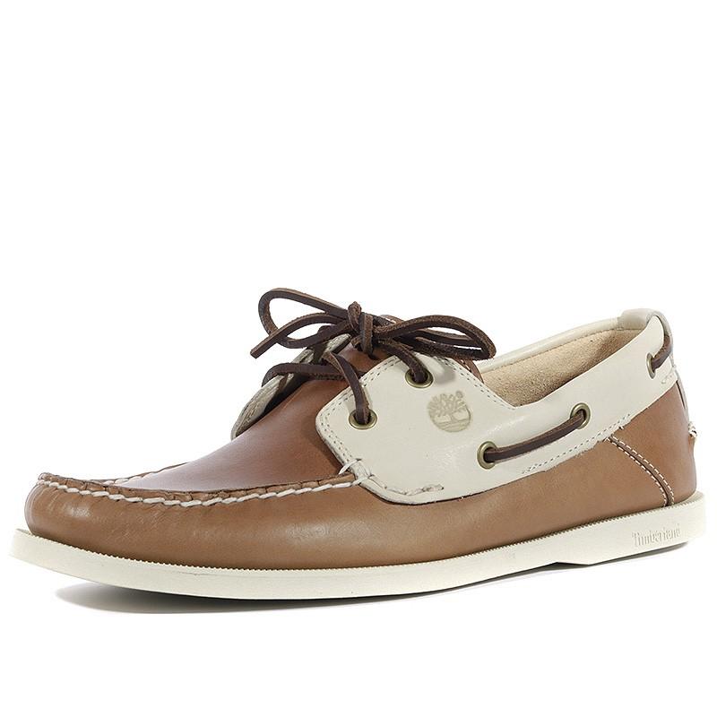da473c1baf0 Chaussures Heritage 2-Eye Boat Marron Beige Homme Timberland