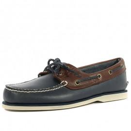 Chaussures Classic 2-Eye Bleu Marron Homme Timberland