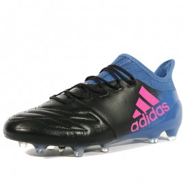 Chaussures X16.1 Leather FG Noir Football Homme Adidas