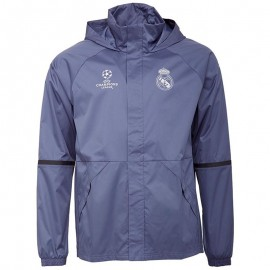 Coupe-vent Imperméable Real de Madrid Football Bleu Homme Adidas