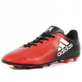 Chaussures X 16.4 FxG Noir Rouge Football Garçon Adidas