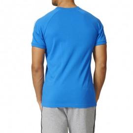 Tee-shirt Bleu Homme Adidas