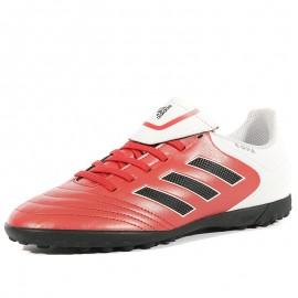Chaussures Copa 17.4 TF Rouge Blanc Football Futsal Garçon Adidas